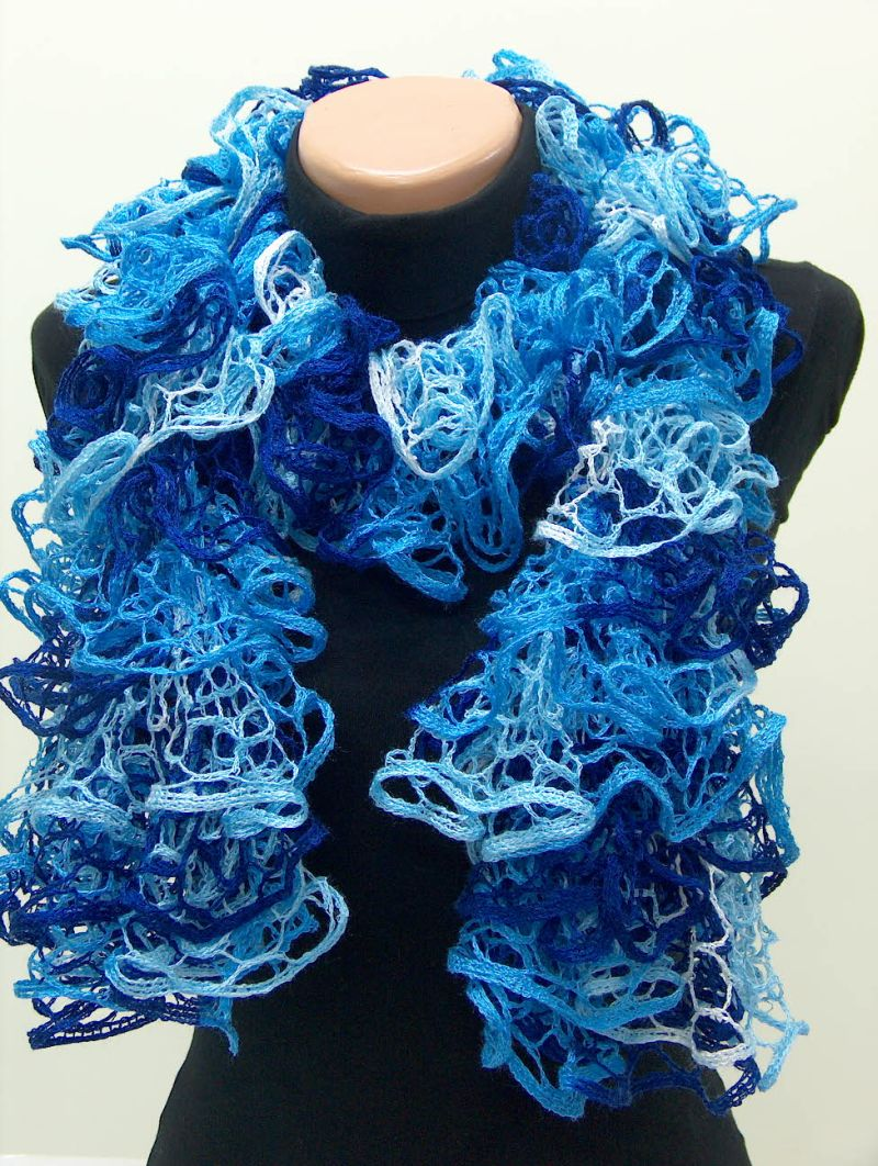 Crochet Scarf Patterns Ribbon Yarn : RIBBON YARN CROCHET PATTERN