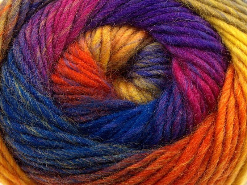 Acacia Yarns Supersoft Merino Yarn #480 Rainbow