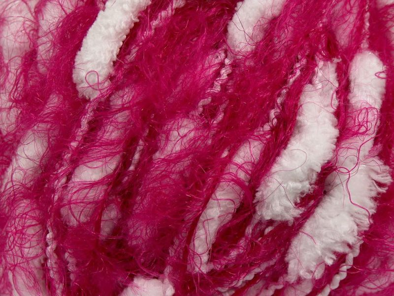 Acacia Yarns Fuzzy Caterpiller Yarn in Colorway 003 Pink