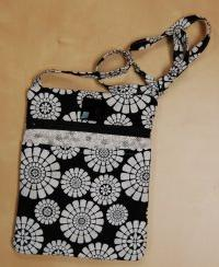 Its in The Bag by Carole - Back and White Small Hand Made Project Bag #22