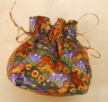 Its in The Bag by Carole - Fields of Kitties Small Hand Made Project Pouch #26
