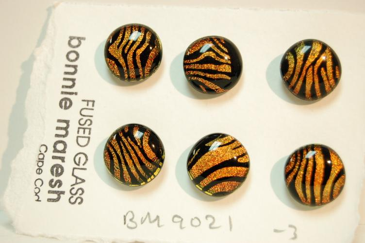Bonnie Maresh Fused Glass Buttons - Medium BM9021