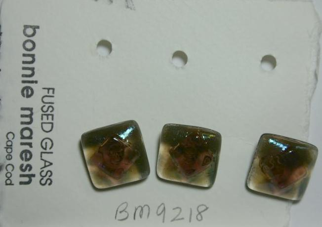 Bonnie Maresh Fused Glass Buttons - Medium BM9218