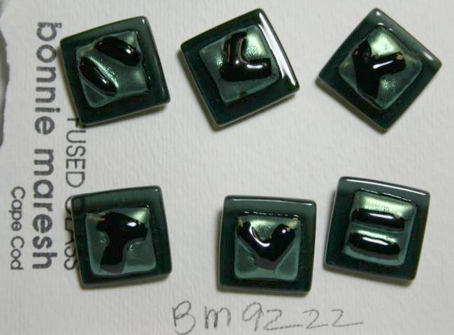 Bonnie Maresh Fused Glass Buttons - Medium BM9222