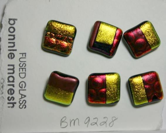 Bonnie Maresh Fused Glass Buttons - Medium BM9228