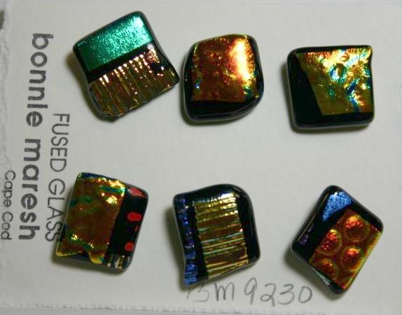 Bonnie Maresh Fused Glass Buttons - Medium BM9230