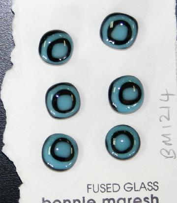 Bonnie Maresh Fused Glass Buttons - Small BM1214