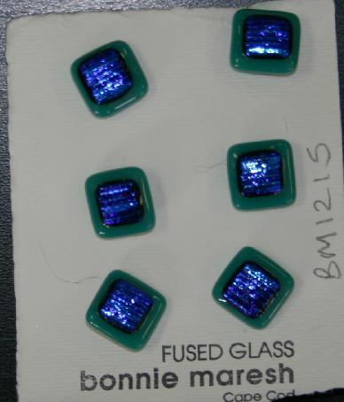 Bonnie Maresh Fused Glass Buttons - Small BM1215