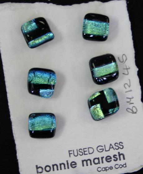 Bonnie Maresh Fused Glass Buttons - Small BM1245