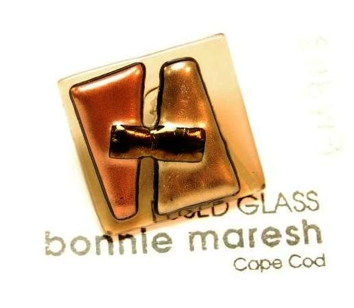 Bonnie Maresh Fused Glass Buttons - Extra Large BM9113