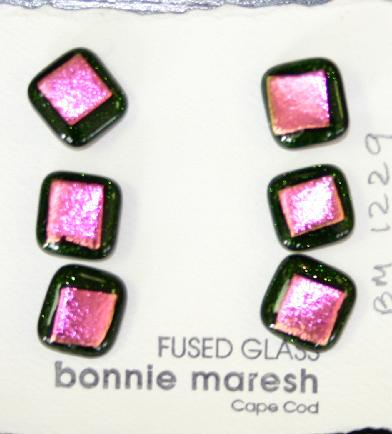 Bonnie Maresh Fused Glass Buttons - Small BM1229