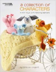A Collection of Characters - 4 knit Toys with Matching Blankets - 4519