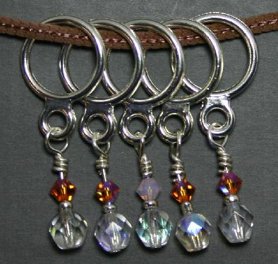 Creative Fiber Artists Set of Five Stitch Ring Markers - cb10