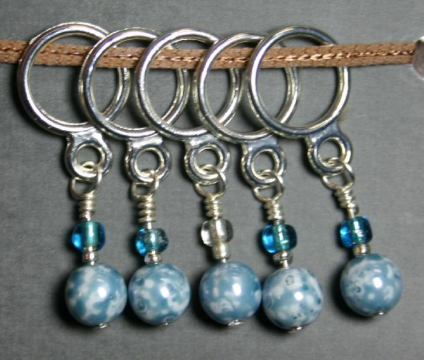Creative Fiber Artists Set of Five Stitch Ring Markers - cb18