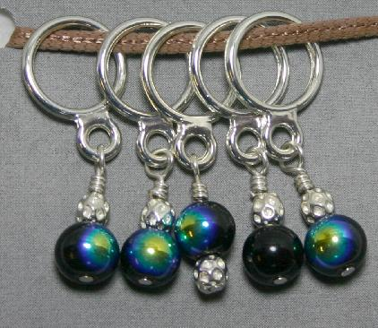 Creative Fiber Artists Set of Five Stitch Ring Markers - cb7