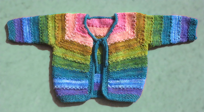 Dream in Color Tulip Baby Cardigan Pattern P-604 by Lindsay Pekny