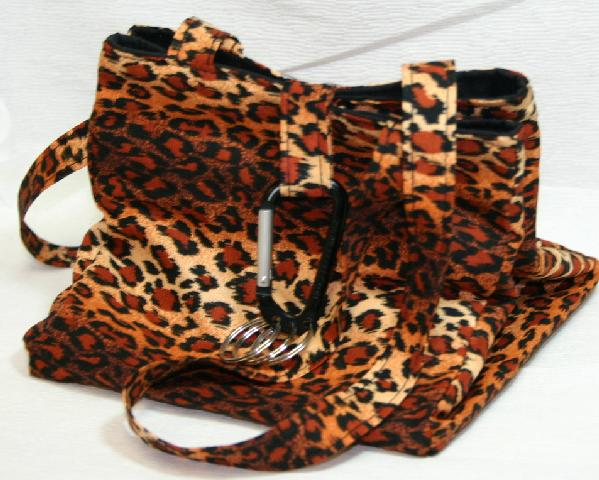 Square Sock Bag by Fairy Designs - Leopard