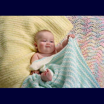 Baby Blanket In Shells and Clusters