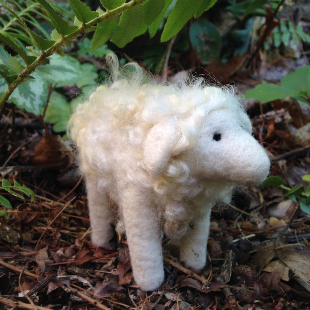 Sheep - Border Leicester -  Needle Felting Kit