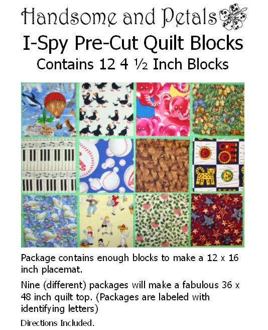 I-Spy Quilt Block Kits