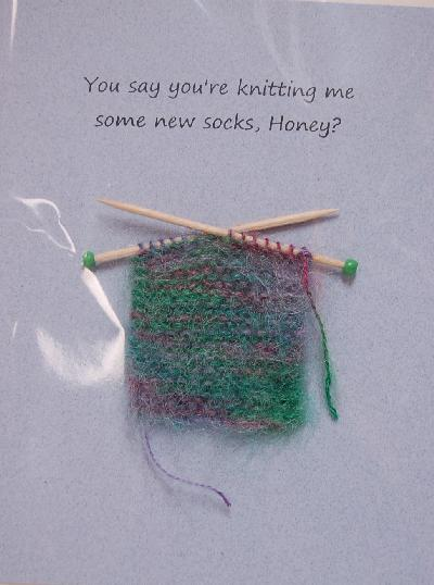 Knitting Birthday Card : Itty bitty witty knitties you say re knitting me