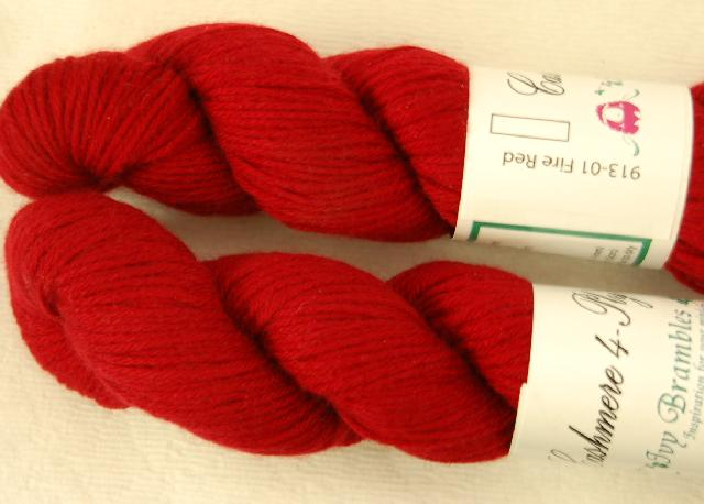Ivy Brambles Cashmere 4-Ply Yarn - 15 Fire Red