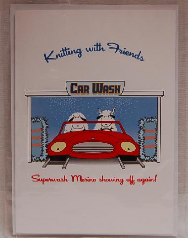 Knitting With Friends Greeting Card - Car Wash