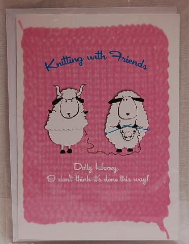 Knitting With Friends Greeting Card - Knit New Baby