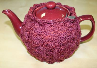 Ivy Brambles Berry Cables Tea Cozy Pattern #66