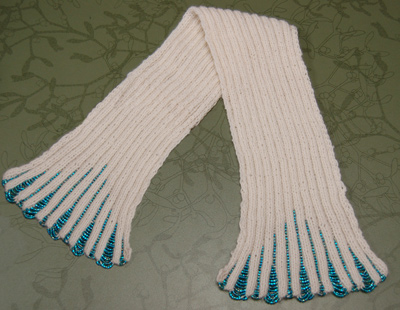 Beaded Cashmere Scarf Pattern
