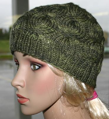 Ivy Brambles Ribbed Coin Cable Hat Pattern