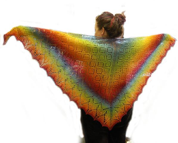 Ivy Brambles Diamond Delight Shawl Pattern