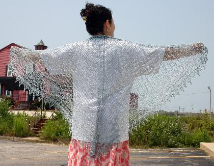 Ivy Brambles Evening Star Lace Shawl Pattern #ja015