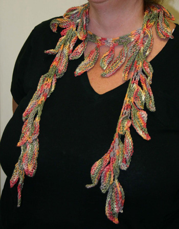 Ivy Brambles Falling Leaves Shawlette Pattern by Jocre Arts