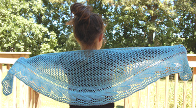 Ivy Brambles Gentle Waves Shawlette Pattern by Jocre Arts