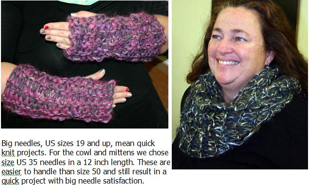 Ivy Brambles Big Needle Cowl and Mittens Pattern