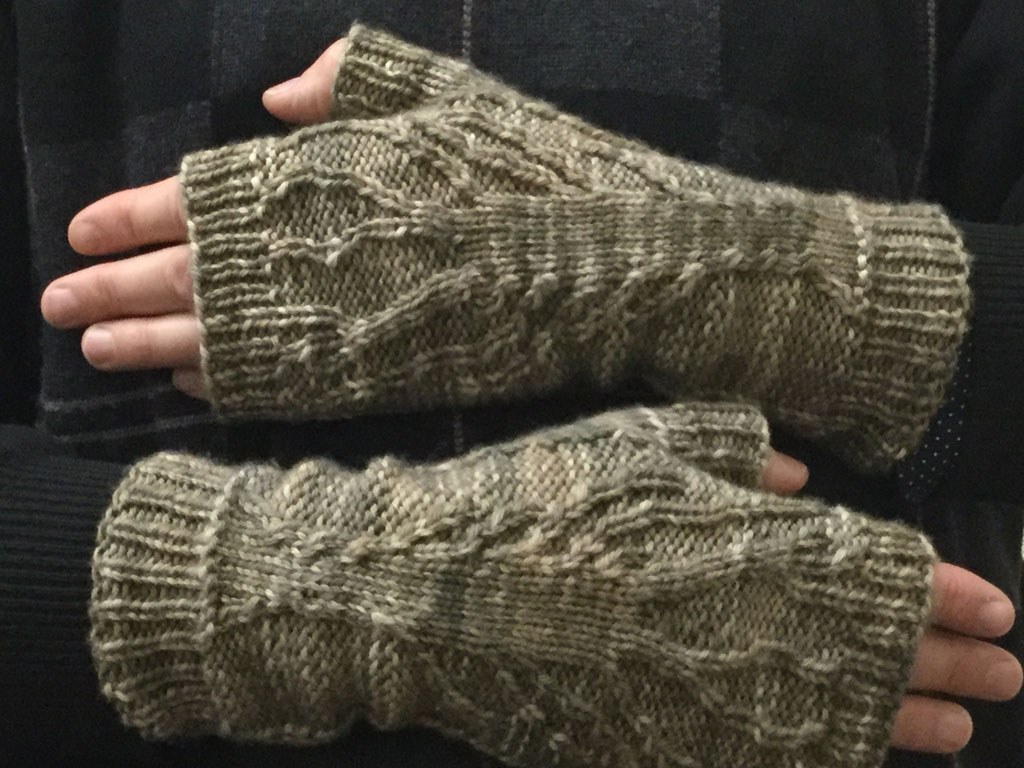 Ivy Brambles Dryad Fingerless Mitts Pattern