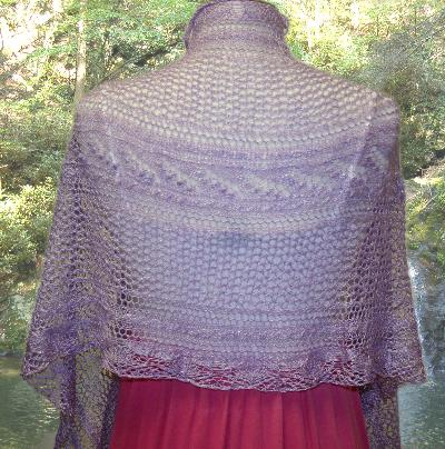 Ivy Brambles Lily of the Valley Silk Shawl Pattern