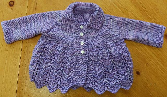 Ivy Brambles Lovely In Lace Baby Sweater Pattern