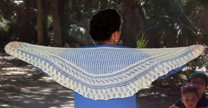Ivy Brambles May Bells Shawlette Pattern