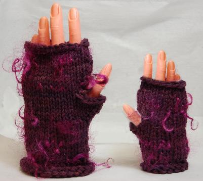 Mohair Curly Locks Fingerless Mittens Pattern