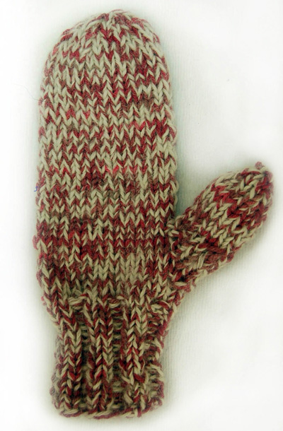 Nancy Warm and Fuzzy Mittens Pattern by Nancy Kimball
