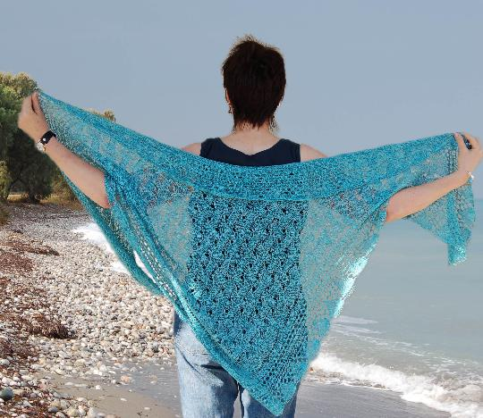 Oceans Edge Pure Silk Shawl Kit