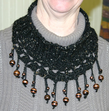 Ivy Brambles Crochet Beaded Neck Collar Pattern