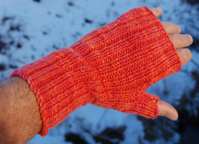 Poppies Fingerless Mittens Pattern