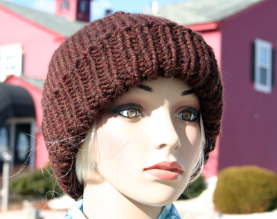 Ivy Brambles Super Bulky Ribbed Brim Hat Pattern