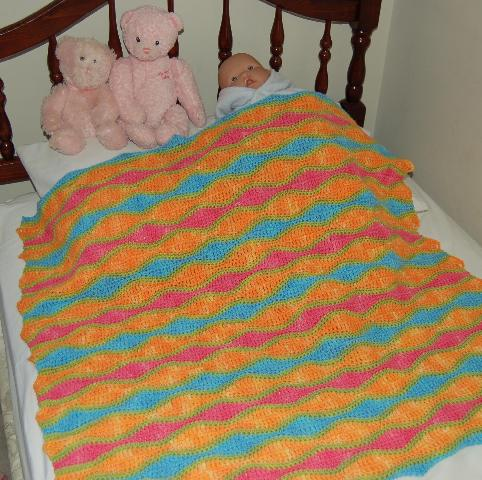 Crochet Patterns Wave Afghan : Ivy Brambles Rolling Waves Afghan Pattern