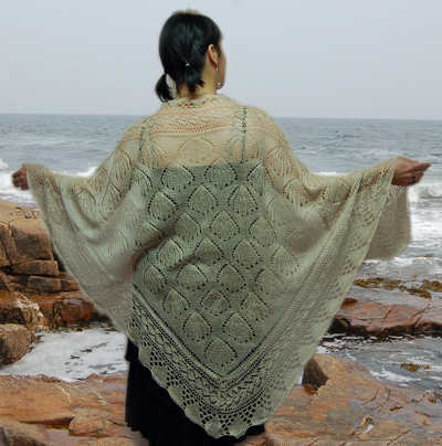 Ivy Brambles Seashell Silk Shawl Pattern