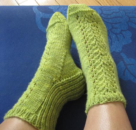 Ivy Brambles Spring Savasana Sock Pattern by Gina House