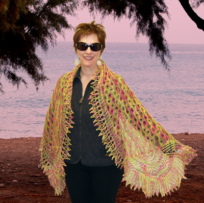 Ivy Brambles Sunrise at the Beach Shawl Pattern